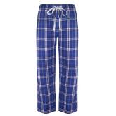 Royal/White Flannel Pajama Pant-Yeshiva University Maccabees