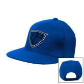 Royal Flat Bill Snapback Hat-Shield