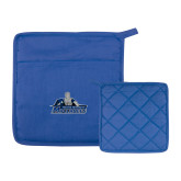 Quilted Canvas Royal Pot Holder-Primary Logo