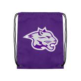 Nylon Purple Drawstring Backpack-Spirit Mark