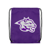 Purple Drawstring Backpack-Spirit Mark