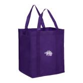 Non Woven Purple Grocery Tote-Spirit Mark
