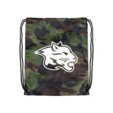Nylon Camo Drawstring Backpack-Spirit Mark