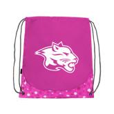 Nylon Pink Bubble Patterned Drawstring Backpack-Spirit Mark