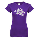 Next Level Ladies SoftStyle Junior Fitted Purple Tee-Spirit Mark