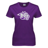 Ladies Purple T Shirt-Spirit Mark