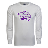 White Long Sleeve T Shirt-Spirit Mark