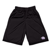Midcourt Performance Black 9 Inch Game Short-Spirit Mark