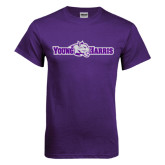 Purple T Shirt-Young Harris Flat w/ Spirit Mark