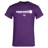 Purple T Shirt-Young Harris Baseball w/ Flying Ball