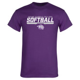 Purple T Shirt-Young Harris College Softball