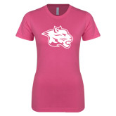 Next Level Ladies SoftStyle Junior Fitted Pink Tee-Spirit Mark