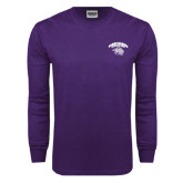 Purple Long Sleeve T Shirt-Official Logo