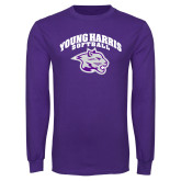 Purple Long Sleeve T Shirt-Softball