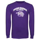 Purple Long Sleeve T Shirt-Alumni