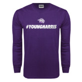 Purple Long Sleeve T Shirt-#YoungHarris