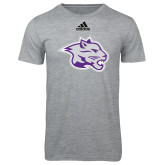 Adidas Sport Grey Logo T Shirt-Spirit Mark