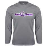 Performance Steel Longsleeve Shirt-Young Harris Flat w/ Spirit Mark