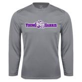 Syntrel Performance Steel Longsleeve Shirt-Young Harris Flat w/ Spirit Mark