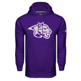 Under Armour Purple Performance Sweats Team Hood-Spirit Mark