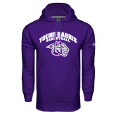 Under Armour Purple Performance Sweats Team Hood-Basketball