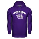 Under Armour Purple Performance Sweats Team Hood-Baseball