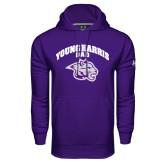 Under Armour Purple Performance Sweats Team Hood-Dad