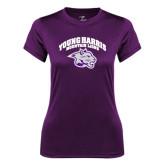 Ladies Syntrel Performance Purple Tee-Official Logo