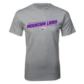 Grey T Shirt-Mountain Lions Slanted