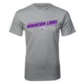 Grey T Shirt-Mountain Lions Slanted