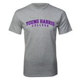 Grey T Shirt-Young Harris College Arched