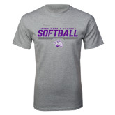 Grey T Shirt-Young Harris College Softball