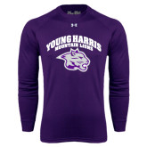 Under Armour Purple Long Sleeve Tech Tee-Official Logo