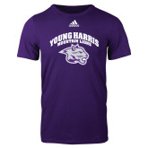 Adidas Purple Logo T Shirt-Official Logo