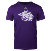 Adidas Purple Logo T Shirt-Spirit Mark