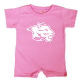 Bubble Gum Pink Infant Romper-Spirit Mark