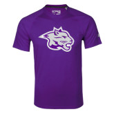 Adidas Climalite Purple Ultimate Performance Tee-Spirit Mark
