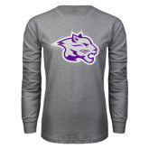 Grey Long Sleeve T Shirt-Spirit Mark