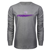 Grey Long Sleeve T Shirt-#YoungHarris