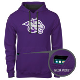 Contemporary Sofspun Purple Hoodie-Spirit Mark