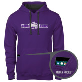 Contemporary Sofspun Purple Hoodie-Young Harris Flat w/ Spirit Mark