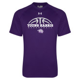 Under Armour Purple Tech Tee-Young Harris Basketball Half Ball