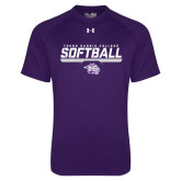 Under Armour Purple Tech Tee-Young Harris College Softball