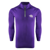 Under Armour Purple Tech 1/4 Zip Performance Shirt-Spirit Mark