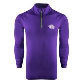 Under Armour Purple Tech 1/4 Zip Performance Shirt-Spirit Mark