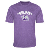 Performance Purple Heather Contender Tee-Official Logo