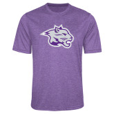 Performance Purple Heather Contender Tee-Spirit Mark