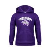 Youth Purple Fleece Hoodie-Official Logo