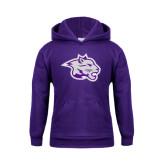 Youth Purple Fleece Hoodie-Spirit Mark