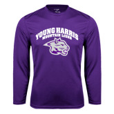 Syntrel Performance Purple Longsleeve Shirt-Official Logo